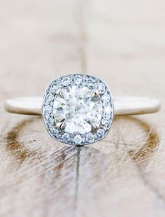 unique-engagement-rings-halo-harlow | Ken & Dana Design