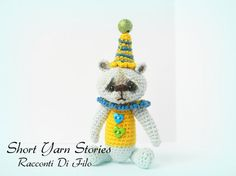 """Manny The Amigurumi Crochet Teddy Bear / Handmade Miniature / Inspired by a """"TheTinyToyBox"""" pattern / Collectible Toy"""