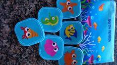 Jogo da Memória em Feltro Personalizado no tema fundo do mar Acesse nossa pag www.facebook.com/patitababykids