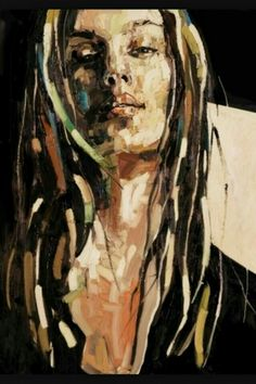 Anna Bocek Abstract Face Art, Abstract Portrait, Portrait Art, Drawing Now, Poster Drawing, Painting & Drawing, Expressionist Portraits, Abstract Photography, Acrylic Art
