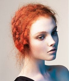Messy boho hairstyle