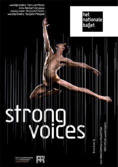 recent work: dutch national ballet posters by martin , via Behance Type Posters, Graphic Design Posters, Cool Posters, Benjamin Millepied, Ballet Posters, Dance Training, Dancing Day, Dance Movement, Poster Design Inspiration