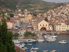 Hvar town on the Island of Hvar, Croatia