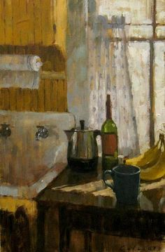 ◇ Artful Interiors ◇ paintings of beautiful rooms - Matteo Caloiaro