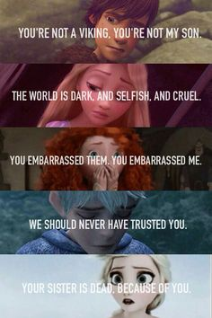 The Big Five. Hiccup, Rapunzel, Merida, Jack, Elsa Rise of the Brave Tangled Fro - Disney - Memes Disney Memes, Disney Pixar, Disney Princess Memes, Funny Disney Jokes, Film Disney, Disney Animation, Disney And Dreamworks, Disney Love, Funny Memes