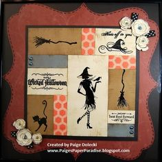 Vintage Witch Framed 12x12 Home Decor