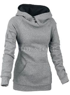 Latest Casual Split Joint Slim Cotton Hoodie