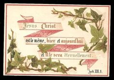 R46 - VICTORIAN FRENCH RELIGIOUS HOLY CARD - BIBLE SCRIPTURE | eBay