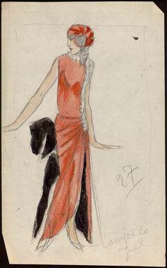 Sketch by Paul Poiret