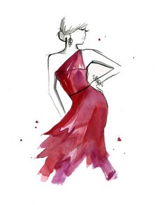 Inspired by a beautiful shade of raspberry watercolor...