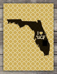 UCF Knights Printable Wall Art PDF by CitrusPaperCo on Etsy, $2.50