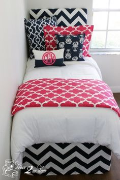 Custom designer bedding and bedroom decor by Decor 2 Ur Door. Design your own or select one of our designer bedding collections. Dorm bedding, custom baby bedding, teen girl bedding, apartment bedding, and more. Dorm Bedding Sets, Teen Girl Bedding, Bedroom Decor For Teen Girls, Comforter Sets, Bedroom Ideas, College Bedding, King Comforter, Teen Bedroom, Bedroom Inspiration