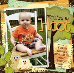 Created this layout of my Brody Boy at old using the October Sampler Kit by Inspiration Lane. Thanks for peeking! Baby Scrapbook Pages, Baby Boy Scrapbook, Scrapbook Sketches, Scrapbook Page Layouts, Scrapbook Paper Crafts, Scrapbook Cards, Scrapbooking Ideas, School Scrapbook, Scrapbook Titles
