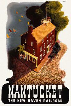 Vintage Travel Poster - USA - Nantucket
