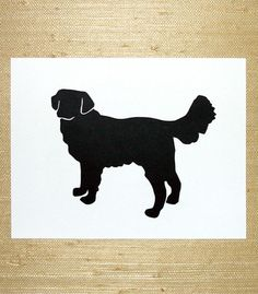 Happiness on Four Legs Silhouette Art