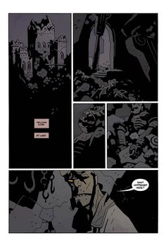 Hellboy in Hell #3 page by Mike Mignola