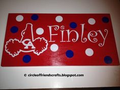 These would be very easy....cut out athlete names, a cute design, then get the big dot markers in team colors.