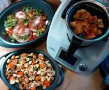 Rezept Gefüllte Riesenchampignons mit Hackfleisch All in one von lakeshore - Rezept der Kategorie Hauptgerichte mit Fleisch