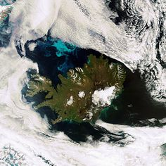 Cloud free Iceland as rarely seen from space