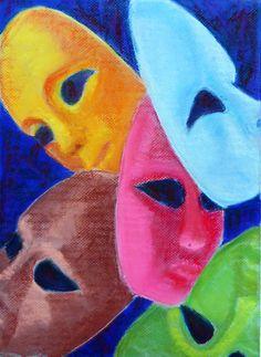 "Gloria J Zucaro: Gloria J Zucaro's ""The Unmasking""  16""H x 12""W Pastel on Canson Mi-Tientes Pastel Paper"
