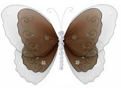 Wedding Decorations | Butterfly Decor | Hanging Nylon Butterflies