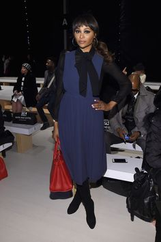 Cynthia Bailey at Mark and Estel during New York Fashion Week Fall 2015