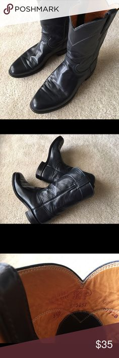 Justin Boots Dark Blue, almost black Justin Boots Shoes Winter & Rain Boots