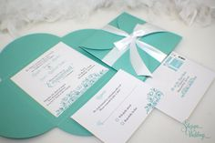 Engagement Party Invitations Aqua Blue Turquoise by SDezigns