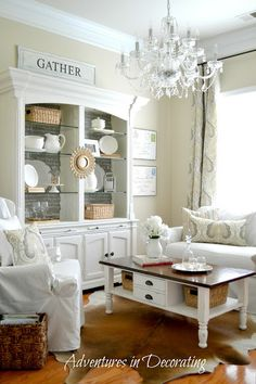 """How I Found My Style Sundays- Adventures In Decorating need to make a """"gather""""sign"""