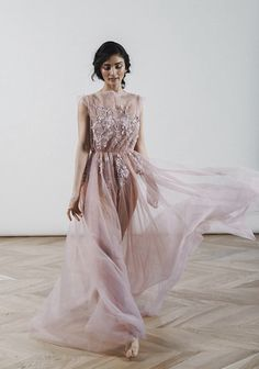 Boudoir dress/blush rose boudoir gown/Luxury boudoir robe/Getting ready robe/open back Lace Bridal, Tulle Wedding, Boho Wedding Dress, Bridal Style, Wedding Gowns, Wedding Themes, Colored Wedding Dresses, Bridal Dresses, Tulle Dress