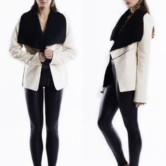 """Morningstar"" Faux Suede Shearling Lined Jacket Faux suede cream and black shearling lined jacket. Brand new. True to size. NO TRADES. PRICE FIRM. Bare Anthology Jackets & Coats Pea Coats"