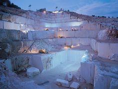 Beige #marble #quarry located at Bilecik, Turkey