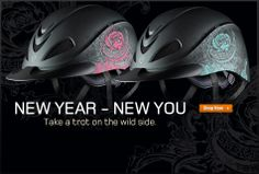 Troxel Rebel Rose Turquoise & Rebel Rose Pink - Take a trot on the wild side. #Helmet