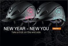 Troxel Rebel Rose Turquoise & Rebel Rose Pink - Take a trot on the wild side. #Helmet