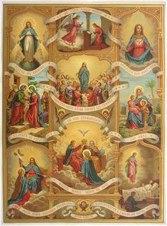 Ave Maria ~ Hail Mary The Lord is with thee Catholic Prayers, Catholic Art, Catholic Saints, Religious Images, Religious Icons, Religious Art, Blessed Mother Mary, Blessed Virgin Mary, Catholic Pictures