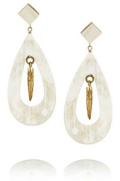 Ashley Pittman|Heleni horn and bronze earrings |NET-A-PORTER.COM