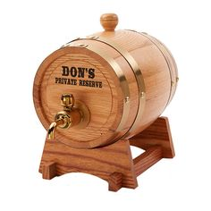 We engrave these mini whiskey barrels and than use a black color fill to make the engraving stand out. These are not stickers or screen printed. All Laser Engraved. This listing is for (1) Whiskey Barrel, Wine Barrel and/or Beer Keg. Makes a perfect Husband Gift, Boyfriend Gift, Groomsmen Gift, Best Man Gift, Man Cave Gift, Birthday Gift, Christmas Gift or anyone who enjoys Whiskey, Rum, Wine and or Beer! Specs: - 1.5 Liter Capacity - Comes with Brass Spigot - 8 x 6 x 5.5 Barrel Size ...