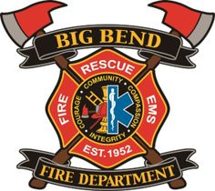 Carved wall plaque of the seal/badge of the Big Bend Fire Department. This and similar plaques of any seal, shoulder patch or badge can be made in any size from 16 inches to 10 ft high, for either inside or outside locations. Firefighter Logo, Conference Logo, Fire Badge, Volunteer Fire Department, Military Insignia, Badge Logo, Wall Plaques, Patches, Fighter Tattoos