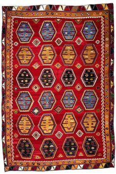 Turkish Kilim  3.50 x 2.38 m  I Perryman Carpets