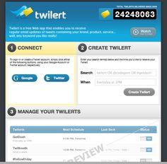 Social Media Monitoring Tools Reviewed: Twilert