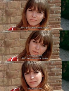 "Anna Karina in JEAN-LUC GODARD "" PIERROT LE FOU "" ( 1965 )"