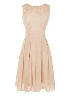 $22  Ouman Short Prom Dress Bridesmaid Gowns with Appliques Neckline Champagne Large Ouman http://www.amazon.com/dp/B00UPC8ADW/ref=cm_sw_r_pi_dp_iSNmwb1X7X73B