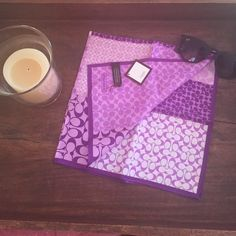 NWT Soho patchwork coach neck scarf in plum Brand new. Bright and absolutely adorable! Can wear over ones neck or tie it on a bag to make a great accessory and pop of color to any outfit! I love to offer bundle discounts! No trades. Please use the offer button to submit offers! Coach Accessories Scarves & Wraps