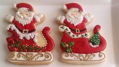 Santa and Sleigh Cookies