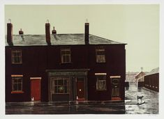 Peter Brook  FEBRUARY Fill-Dyke in Wigan 1976-7  Lithograph on paper  image: 510 x 711 mm