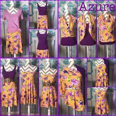 #azure #skirt How to style an Azure! #LulaRoe #style #fashion #comfort #trend #trendsetter #beauty #leggings #LLR https://www.facebook.com/groups/LulaRoeSamathaSidelinger/