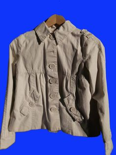 Old Navy XL Girl's Jacket - Ivory - Adorable Buttons Decorative Stitching SALE!! #OldNavy #Everyday