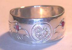 Eaglehead Cherokee diamond eyes Rings by Bearclaw Native Indian Custom Jewelry