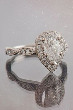 Bague de Fiançailles – Tendance : 30 White Gold Engagement Rings That Every Bride Wants ❤ See more: www. Rustic Engagement Rings, Pear Shaped Engagement Rings, Engagement Ring Shapes, Beautiful Engagement Rings, Perfect Engagement Ring, Beautiful Rings, Wedding Engagement, Diamond Wedding Rings, Diamond Engagement Rings