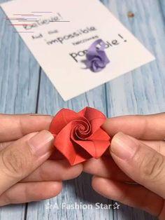 8 Easy Origami Ideas - Fun Paper Crafts -Paper Rose